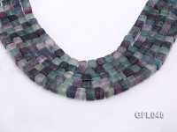 Wholesale 8mm Cubic Multi-color Fluorite Beads Loose String