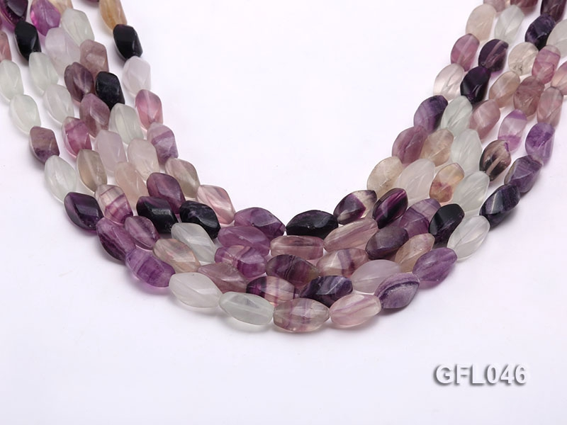 Wholesale 8x16mm Irregular Multi-color Faceted Fluorite Beads Loose String