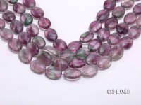 Wholesale 15x20mm Oval Multi-color Fluorite Beads Loose String