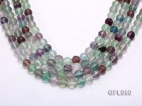 Wholesale 10mm Round Colorful Faceted Fluorite Beads Loose String
