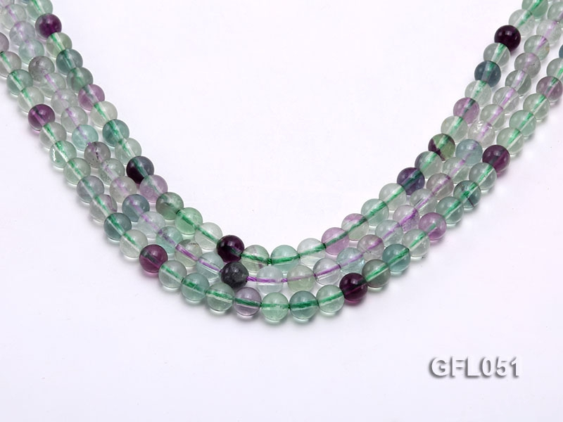 Wholesale 6mm Round Colorful Fluorite Beads Loose String