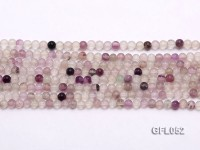 Wholesale 4mm Round Colorful Fluorite Beads Loose String