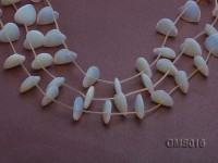 Wholesale 18mm Heart-shaped Milky Moonstone Beads Loose String