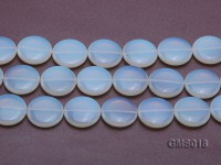 Wholesale 30mm Button-shaped Milky Moonstone Beads Loose String