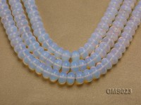 Wholesale 8x14mm Wheel-shaped Milky Moonstone Beads Loose String