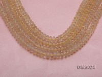 Wholesale 5x8mm Wheel-shaped Light-yellow Moonstone Beads Loose String