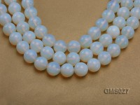 Wholesale 16m Round Milky Moonstone Beads Loose String