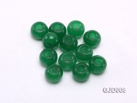 Wholesale 10x13mm Circle-shaped Loose Green Jade Beads