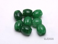 Wholesale 14x13mm Pillar-shaped Loose Green Jade Beads