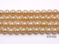 Wholesale 12-16mm Round Golden South Sea Pearl Loose String