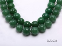 Wholesale 20mm Round Green Faceted Aventurine Beads Loose String