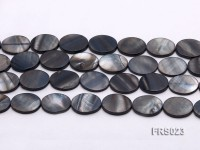 Wholesale 15x20mm Oval Grey Freshwater shell Pieces Loose String