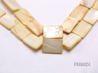 Wholesale 20x30mm Rectangular Ivory Freshwater shell Pieces Loose String