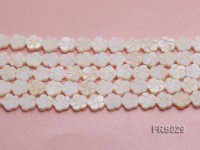 Wholesale 10mm Flower-shaped White Freshwater shell Pieces Loose String