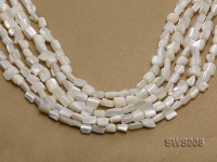 Wholesale 6x8mm Irregular White Seashell Beads Loose String