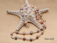 11.5mm-12.5mm Multi-color Edison Pearl Opera Necklace