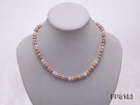7-7.5mm Multi-color Flat Freshwater Pearl Necklace and Bracelet Set