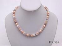 8.5-9mm Multi-color Flat Freshwater Pearl Necklace and Bracelet Set