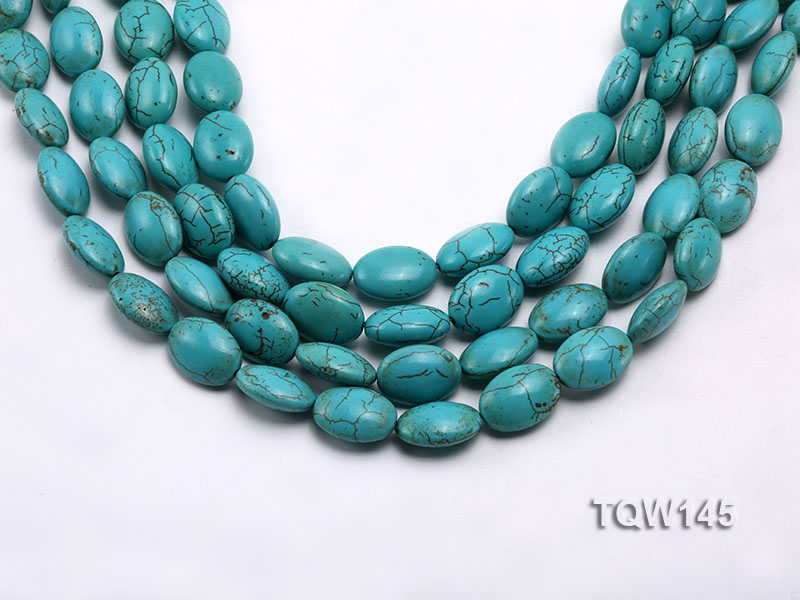 Wholesale 13x18mm Oval Blue Turquoise Beads Loose String