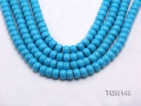 Wholesale 8x12mm Flatly Round Blue Turquoise Beads Loose String