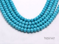 Wholesale 9x12mm Flatly Round Blue Turquoise Beads Loose String
