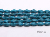 Wholesale 8x16mm Oval Blue Turquoise Beads Loose String