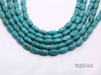 Wholesale 8x14mm Oval Blue Turquoise Beads Loose String