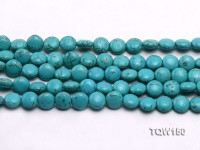 Wholesale 10mm Button-shaped Blue Turquoise Beads Loose String
