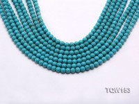 Wholesale 6mm Round Blue Turquoise Beads Loose String