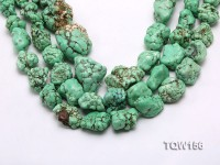 Wholesale 18x25mm Irregular Green Turquoise Pieces Loose String