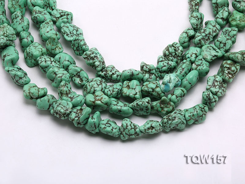 Wholesale 14x18mm Irregular Green Turquoise Beads Loose String
