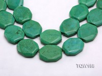 Wholesale 30x35mm Button-shaped Green Turquoise Beads Loose String