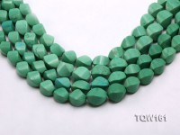 Wholesale 12x17mm Irregular Green Turquoise Beads Loose String