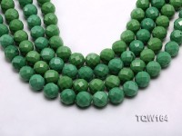 Wholesale 16mm Round Green Faceted Turquoise Beads Loose String