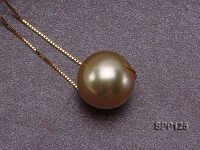 11mm Golden South Sea Pearl Pendant with 18k Gold Chain