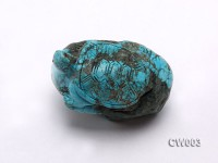 Stylish 45x65mm Blue Turquoise Craftwork Carved with a tortoise