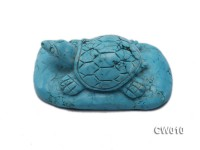 Stylish 47x79mm Blue Turquoise Craftwork Carved with a tortoise