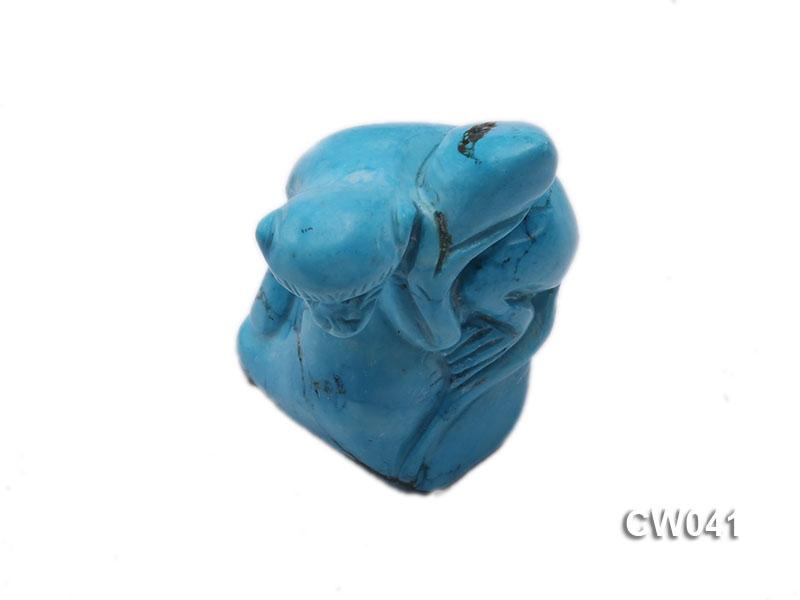 Stylish 34x23mm Blue Monkey-shaped Turquoise Craftwork