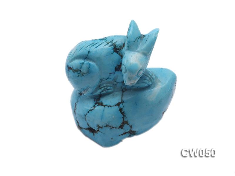 Stylish 40x26mm Blue Rabbit-shaped Turquoise Craftwork