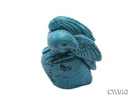 Stylish 42x20mm Blue Eagle-shaped Turquoise Craftwork