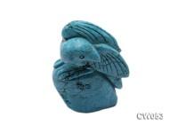 Stylish 42x20mm Blue Eagle-shaped Turquoise Craftwork
