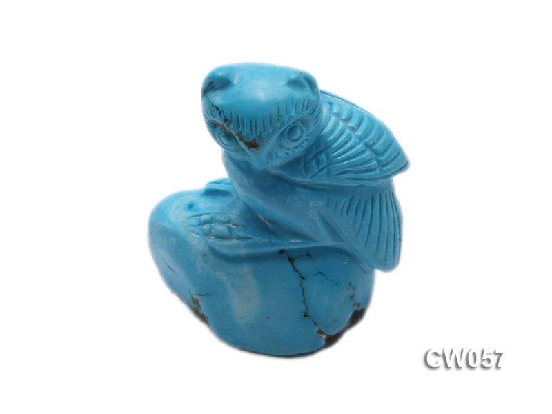 Stylish 40x22mm Blue Owl-shaped Turquoise Craftwork