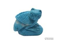 Stylish 46x26mm Blue Owl-shaped Turquoise Craftwork