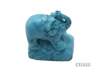 Stylish 40x30mm Blue Elephant-shaped Turquoise Craftwork