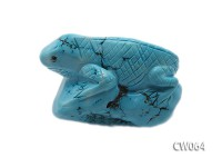 Stylish 55x30mm Blue Lizard-shaped Turquoise Craftwork
