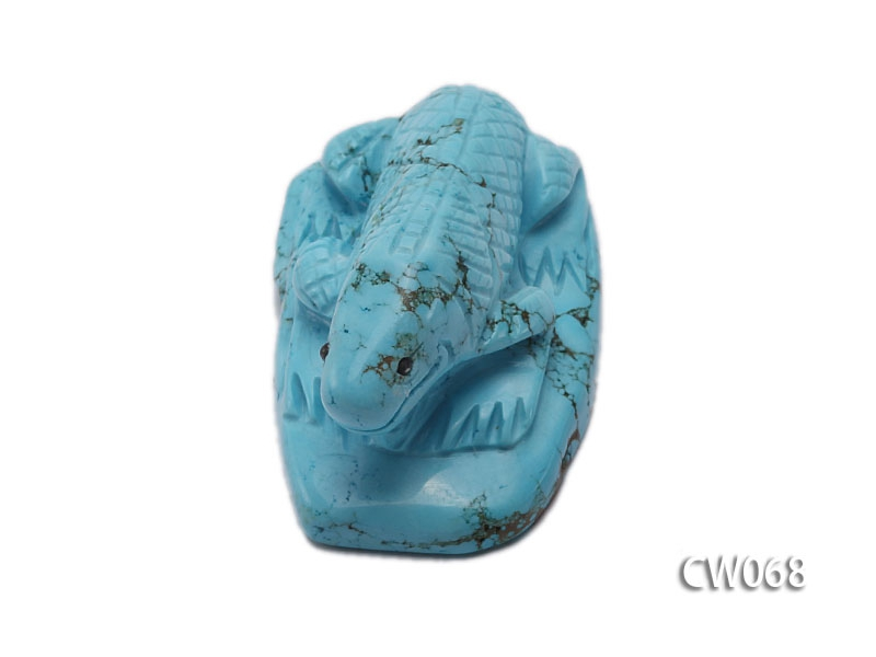 Stylish 52x31mm Blue Lizard-shaped Turquoise Craftwork