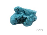 Stylish 55x40mm Blue Lizard-shaped Turquoise Craftwork