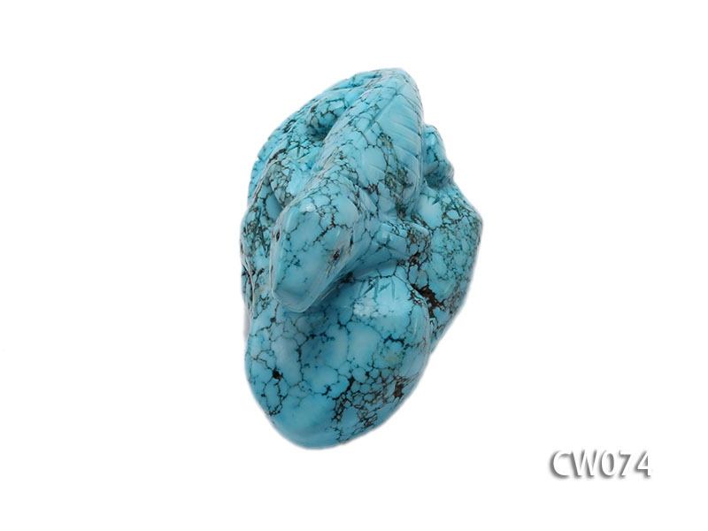 Stylish 59x33mm Blue Lizard-shaped Turquoise Craftwork