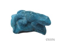 Stylish 60x40mm Blue Lizard-shaped Turquoise Craftwork
