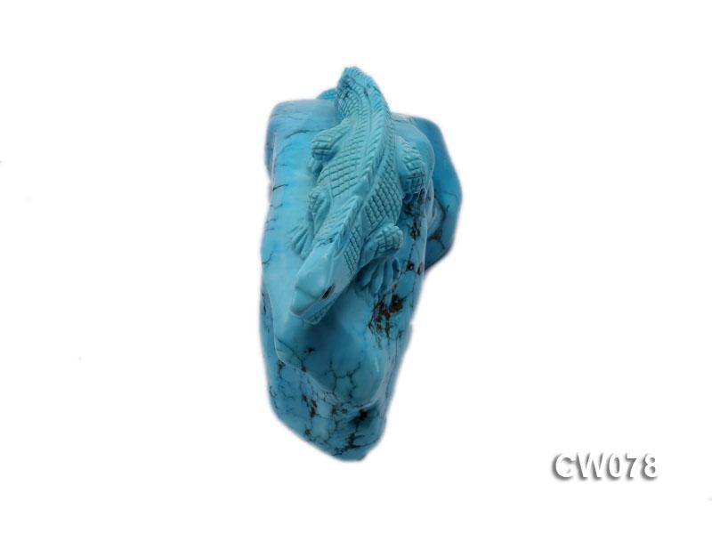 Stylish 110x45mm Blue Lizard-shaped Turquoise Craftwork